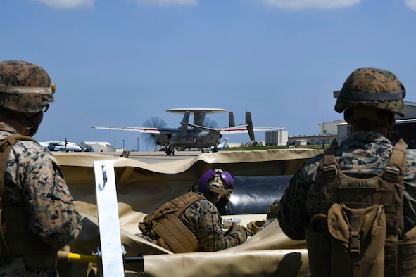 U.S. service members participate in joint training on Kadena Air Base, Japan.