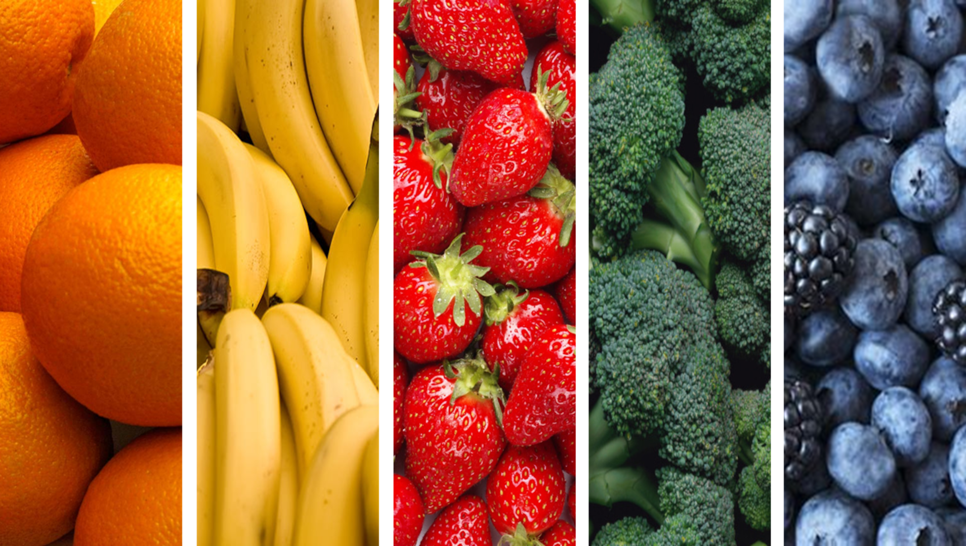 Healthy eating includes a variety of colorful fruits and vegetables.