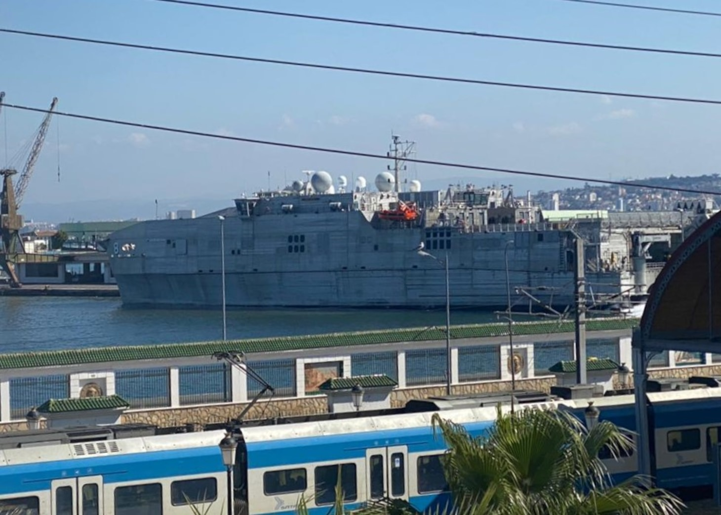 210323-N-NO901-0002 ALGIERS, Algeria (Mar. 23, 2021) The Military Sealift Command Spearhead-class expeditionary fast transport USNS Yuma (T-EPF 8) arrived in Algiers, Algeria, for a port visit on March 23, 2021. Yuma is operating in U.S. Sixth Fleet to conduct interoperability training and building strategic partnerships with their African partners. (Photo courtesy U.S. Embassy Algiers)