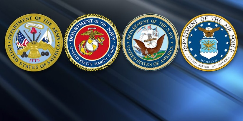United States Army, Navy, Air Force and Marine Corps Emblems