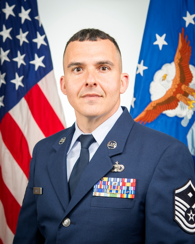 Master Sgt. Benjamin Mota is Grissom's first AGR first sergeant. Mota is assigned to the 434th Force Support Squadron, and is responsible for first sergeant duties for the 434th Air Refueling Wing during non-unit training assembly weekends.