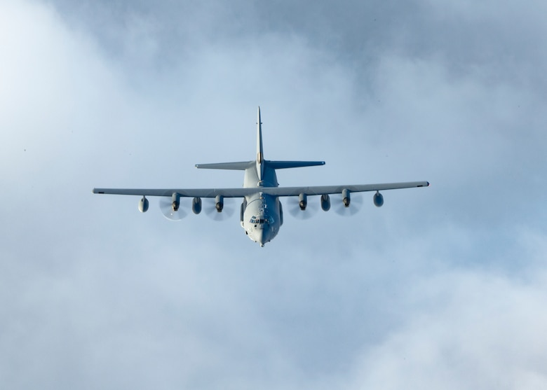 An MC-130J Commando II, assigned to the 352d Special Operations Wing, flies over Sweden on November 13, 2020. U.S. and Swedish armed forces conduct qualified exercises together to strengthen defense capabilities across land, air, and sea domains to deter any opponent. (U.S. Air Force photo by Master Sgt. Roidan Carlson)