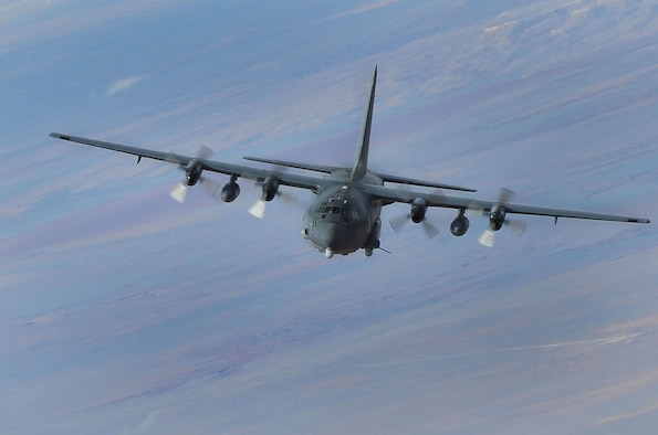 The AC-130W Stinger II primary missions are close air support and air interdiction. The aircraft is a highly modified C-130H featuring improved navigation, threat detection, countermeasures, and communication suites. All AC-130W aircraft are modified with a precision strike package to perform the gunship mission. (U.S. Air Force photo)