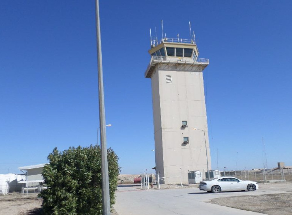 The control tower at Imam Ali Air Base Iraq. The tower is being renovated for the Iraqi Air Force by the U.S. Air Force's  Aerospace Management Systems Division at the Air Force Life Cycle Management Center (AFLCMC/HBA), Hanscom Air Force Base. The Air Force elected to work with the U.S. Army Corps of Engineers Middle East and Memphis Districts on the project due to their experience in the region and civil engineering expertise.
