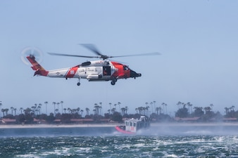 U.S. Marines conduct medical evacuation drills with U.S. Coast Guard Air Station San Diego.