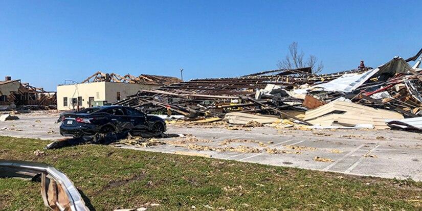 Tyndall Base Housing damage after Hurricane Michael