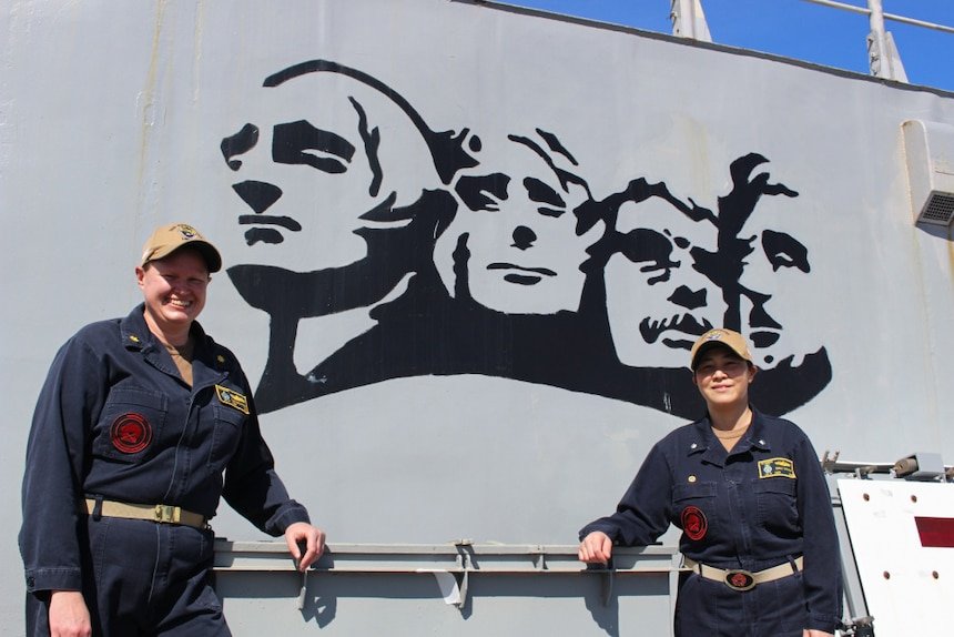 Female Warfare Tactics Instructors Lead Warship Rushmore