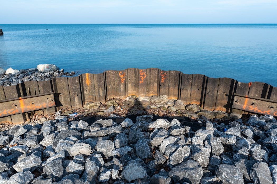 The U.S. Army Corps of Engineers Buffalo District and its contractor Michigan-based Great Lakes Dock & Materials, L.L.C will resume repairs the first week of April 2021 to the east breakwater in Great Sodus Harbor, located in Sodus Bay, Village of Sodus Point, Wayne County, NY.