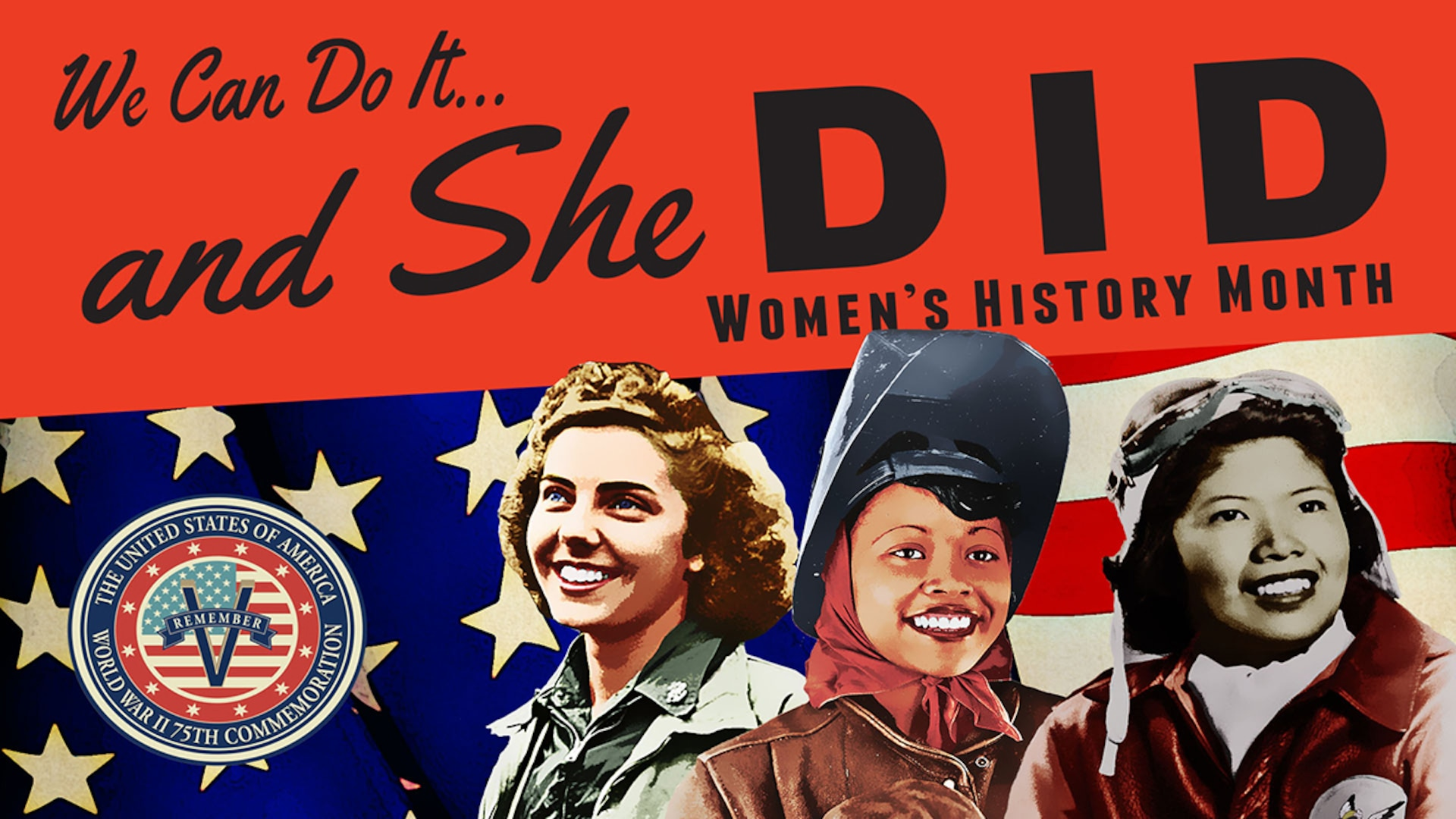A banner graphic for Women's History Month