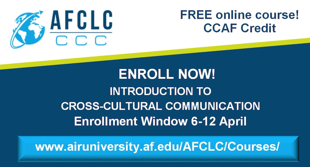 Enrollment Open for Introduction to Cross-Cultural Communication – 6-12 April