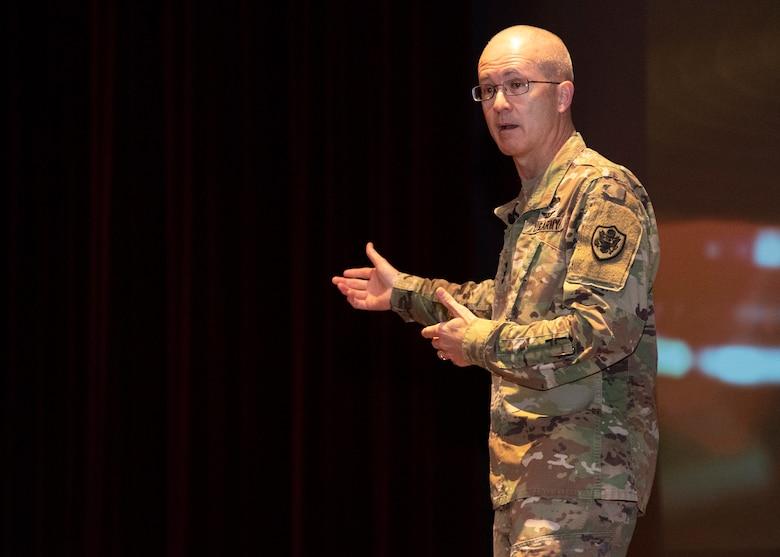 Lt. Gen. Ronald Place visits Sheppard