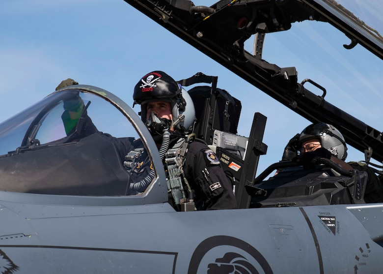 A Republic of Singapore Air Force pilot assigned to the 428th Fighter Squadron, prepares to take flight at Nellis Air Force Base, Nevada, March 19, 2021. The RSAF participated in Red Flag 21-2, training in advanced aerial combat scenarios with the U.S. Air Force, Sweden and several NATO nations.