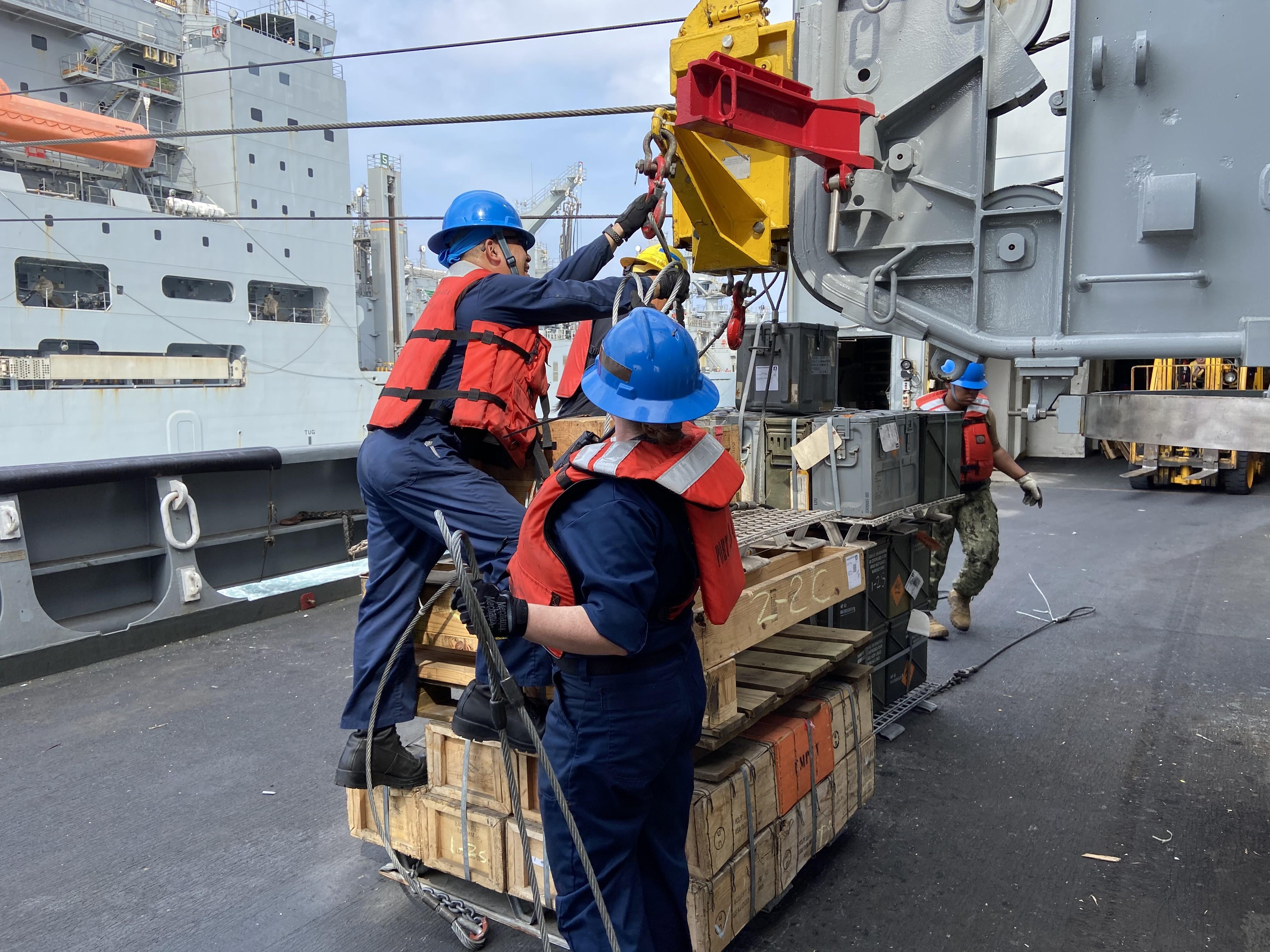 CART Personnel Prepare Ammunition For Transfer.