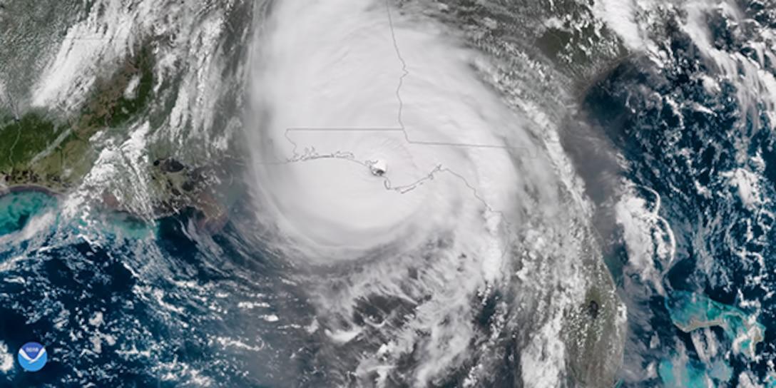 Hurricane Michael making landfall along the Florida Panhandle