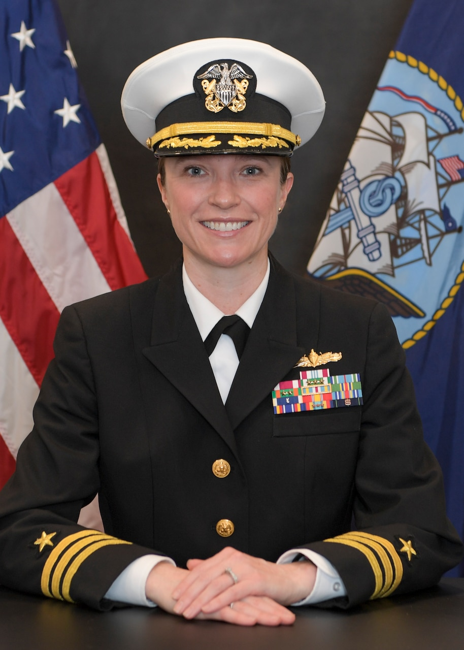 Studio portrait of Cmdr. Katie Jacobson