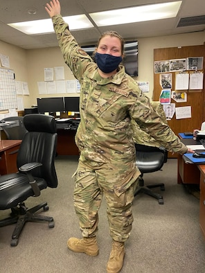 SrA Madison Kennon is a Team Chief of an Electro-Mechanical Team (EMT) at Minot Air Force Base, North Dakota March 22, 2021.