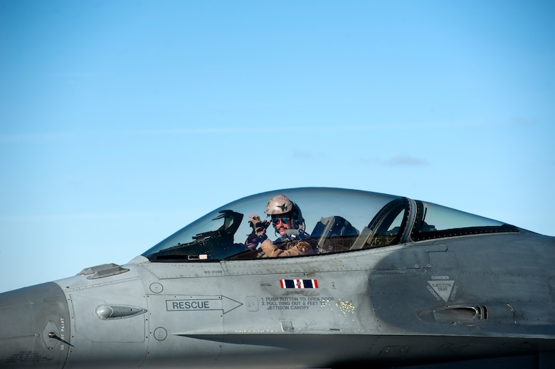 U.S. Air Force F-16 Fighting Falcon pilot, Capt. William Ross, assigned to the Ohio National Guard's 180th Fighter Wing, returns home to the 180FW following a three-month Aerospace Expeditionary Force deployment to Bagram Air Base, Afghanistan, Jan. 23, 2021.