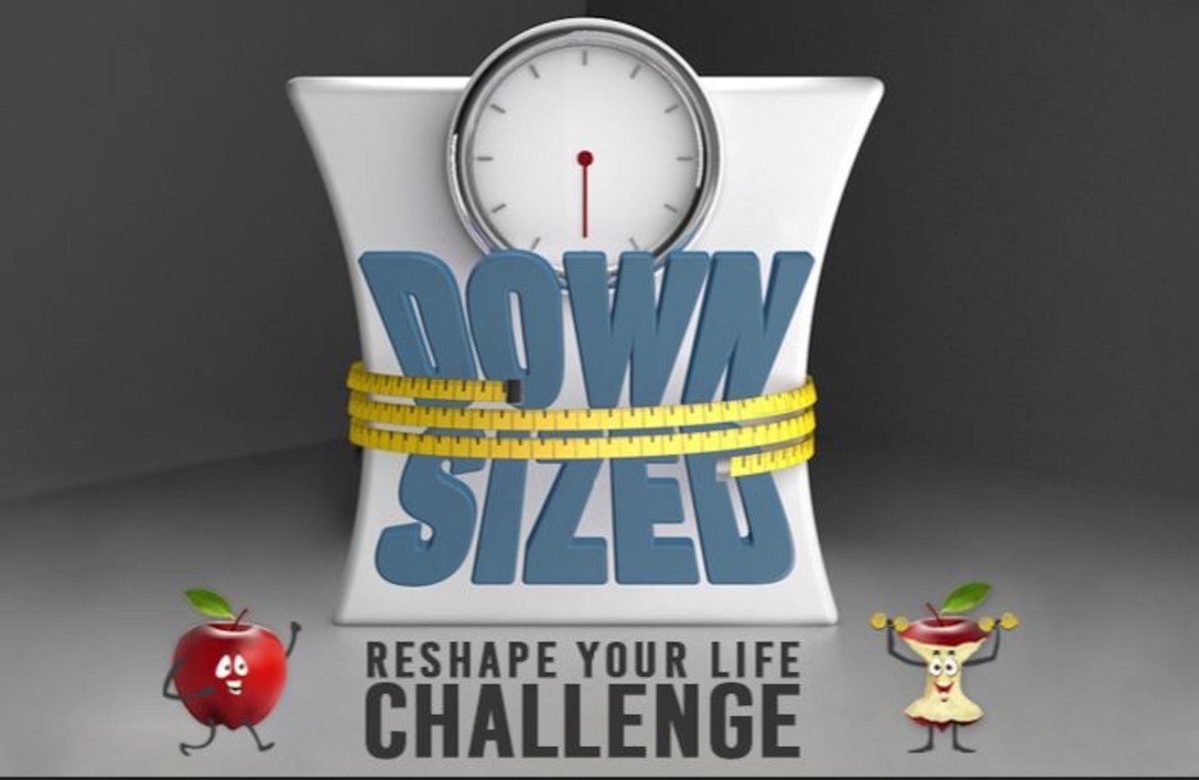 The Civilian Health Promotion Service at Hanscom Air Force Base, Mass., is hosting a DOWNSIZED challenge this spring to promote healthy lifestyles, nutrition, and physical activity. (Courtesy graphic)