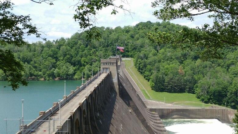 The dam at Tygart Lake in Grafton, WV.