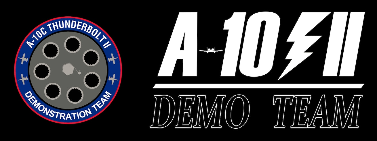 Banner with the following on it: A-10 Demo Team