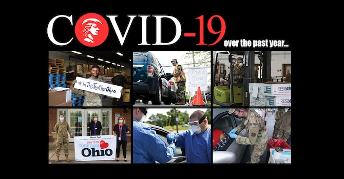 March 23, 2021, marked the one-year anniversary of the Ohio National Guard's first mission responding to the COVID-19 pandemic. Since then, 5,600 Soldiers, Airmen, and members of the Ohio Military Reserve and Ohio Naval Militia have answered the call to help their communities during nearly 70 missions.