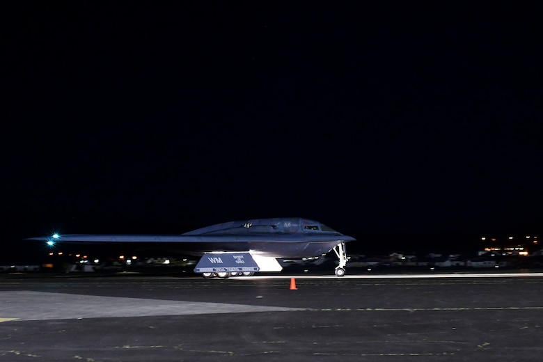 The B-2s rely on refueling capabilities at Lajes to enable support for joint and combined training, exercises and operations in the High North region. (U.S. Air Force photo by Tech. Sgt. Heather Salazar)