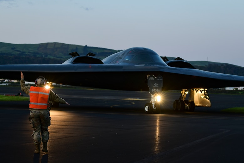 The strategic bomber missions provide Airmen an opportunity to test their rapid response capability, allowing them to meet any potential crisis or challenge across the globe. (U.S. Air Force photo by Tech. Sgt. Heather Salazar)
