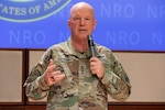 (U) Gen. Raymond visits Westfields to hold a town hall for the workforce.