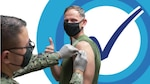 Service Member getting vaccinated