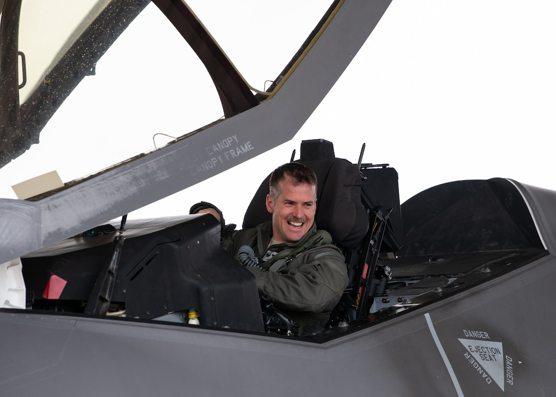 A photo of Col. Wood's final flight.