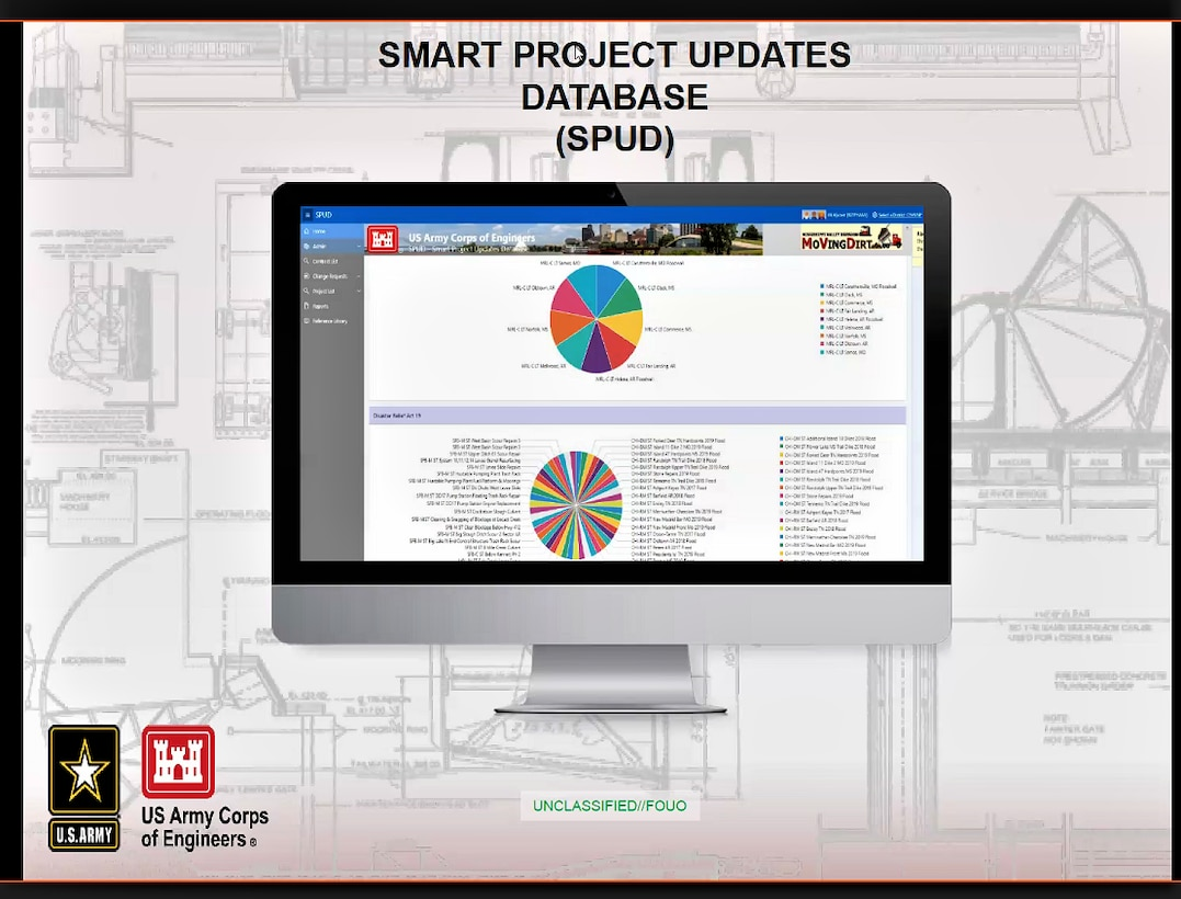 A screenshots of the Smart Project Updates Dashboard, also known as SPUD.