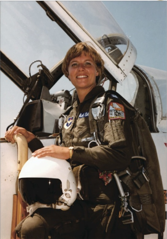 Capt. Kathy La Sauce is shown in her Undergraduate Pilot Training Class 77-08 graduation photo. In October 2020, the National Museum of the U.S. Air Force debuted an exhibit dedicated to the 10 women of UPT Class 77-08, the UPT class that included women.