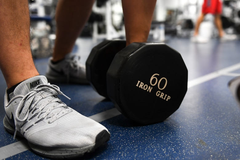 A photo of an exercise weight.
