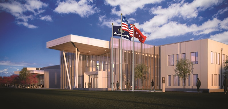 An artist's rendition of U.S. Army Cyber Command's Headquarters Complex, under construction at Fort Gordon, Ga.
