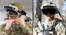 Soldiers don the Integrated Visual Augmentation System (IVAS) Capability Set 3 (CS3) at Fort Belvoir, VA in January 2021