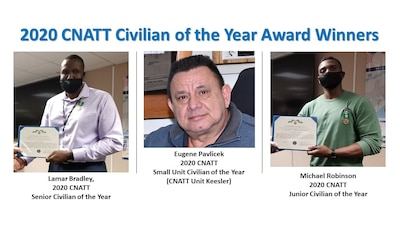 PENSACOLA, Fla. -- (March 29, 2021) Photo collage of the Center for Naval Aviation Technical Training's 2020 Civilian of the Year award winners. (U.S. Navy photo)