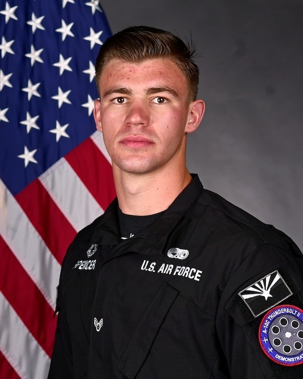 official portrait of an A-10 Demo Team member