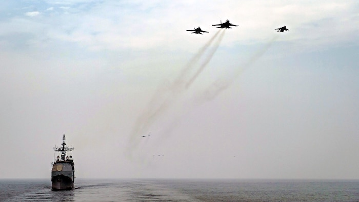 Theodore Roosevelt Carrier Strike Group Conducts Joint Force Maritime Exercise with India