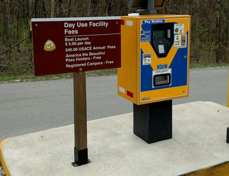 Self-serve fee collection station