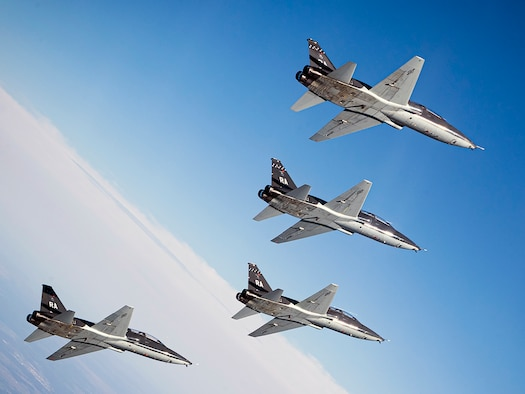Air Force T-38 Talons assigned to the 560th Flying Training Squadron fly in formation near Joint Base San Antonio-Randolph during the 47th annual Freedom Flights March 25. The Freedom Flyer Reunion is an annual celebration recognizing the incredible service of Air Force Prisoners of War during the Vietnam War.