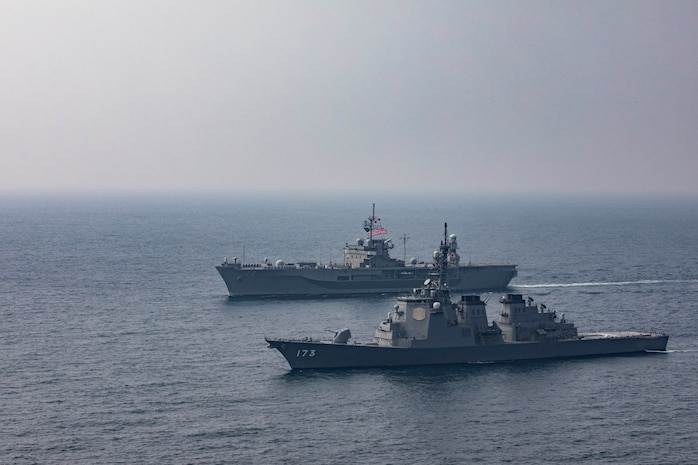 USS Blue Ridge Operates with Japan Maritime Self Defense Force