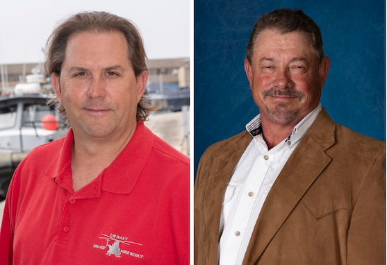Darryl Ogden (left) and Randy Hetzel (right) were recently selected as Naval Sea Systems Command (NAVSEA) Testers in the Spotlight.