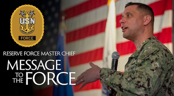 A graphic for Force Master Chief Kotz's message to the force.