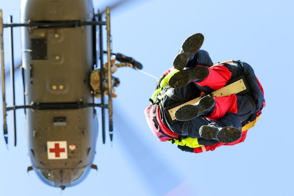 Firefighters with Mississippi Task Force Urban Search and