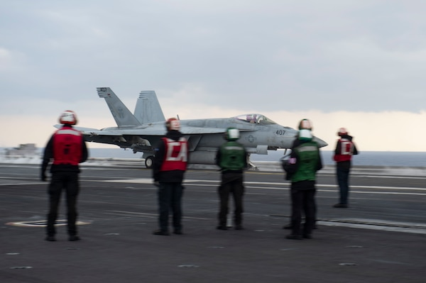 Operation Inherent Resolve; carrier USS Dwight D. Eisenhower (CVN 69)