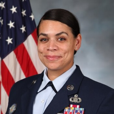 A female U.S. Air Force senior noncommissioned officer portrait.