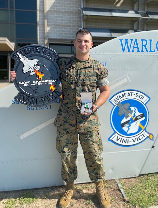 Babineaux now works a civilian job in Virginia, and supervises 20-30 engine and flight line mechanic Marines in Beaufort, South Carolina during his periodic drill weekends.