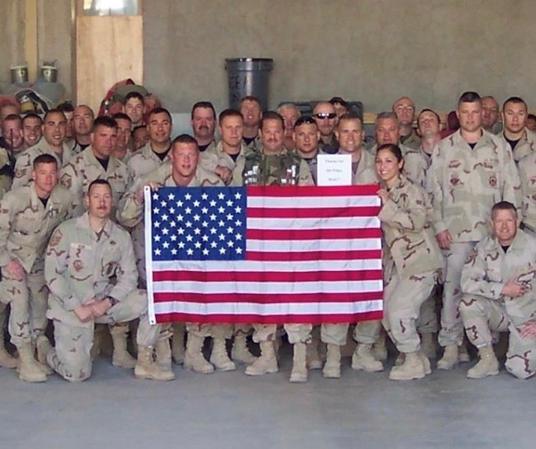 Jaramillo poses for a group shot during a deployment to Balad, Iraq