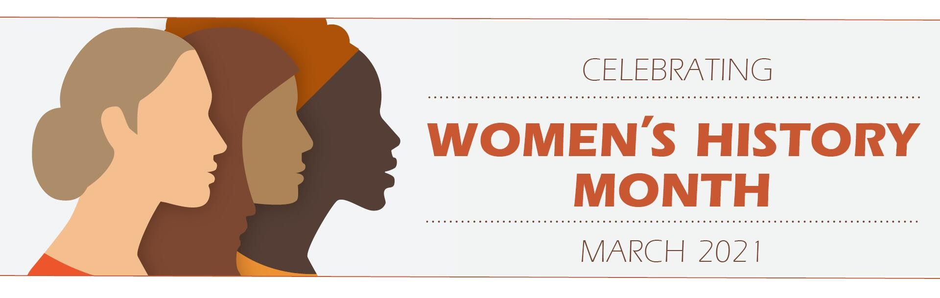 A graphic for women's history month