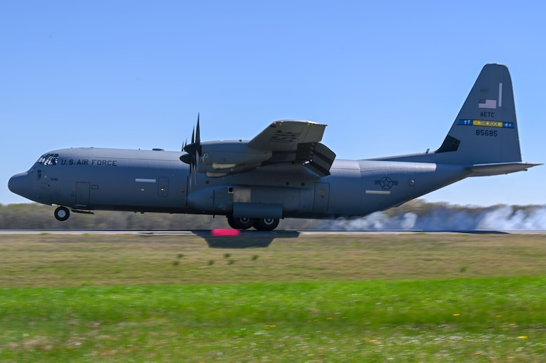 C-130Js fly during a Turkey Shoot competition